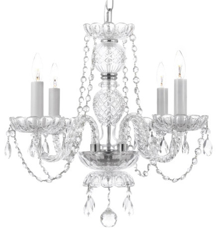 Gallery 275 4 Light 1 Tier Murano Venetian Style All Crystal Chandelier Traditional