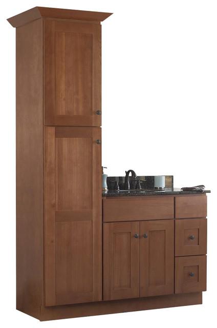 JSI Cabinetry Sturbridge 36 Bathroom Vanity Base and 18