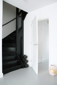 black stairs - Modern - Staircase - Amsterdam - by April ...