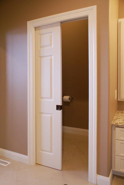 Pocket  Barn Doors  Traditional  Bathroom  other metro