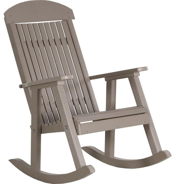 hard plastic outdoor rocking chairs knoll generation chair luxcraft classic traditional recycled porch contemporary by the swing store
