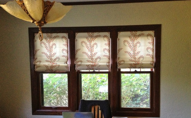 Knechtel Drapes and Roman Shades  Craftsman  Dining Room