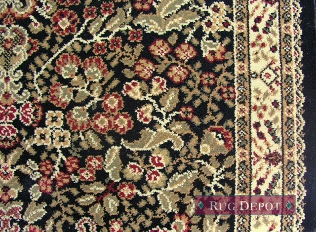 Persian Classics Traditional Stair Runner Black 27 X1 Rug Runner | Home Depot Hall Runners By The Foot | Persian Rug | Area Rugs | Flooring | Staircase | Rug Runner
