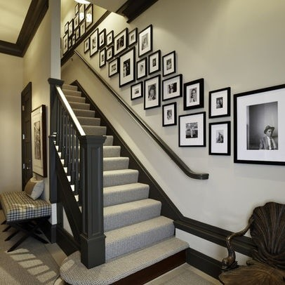 Staircase Wall Decorating Ideas Transitional Staircase Other