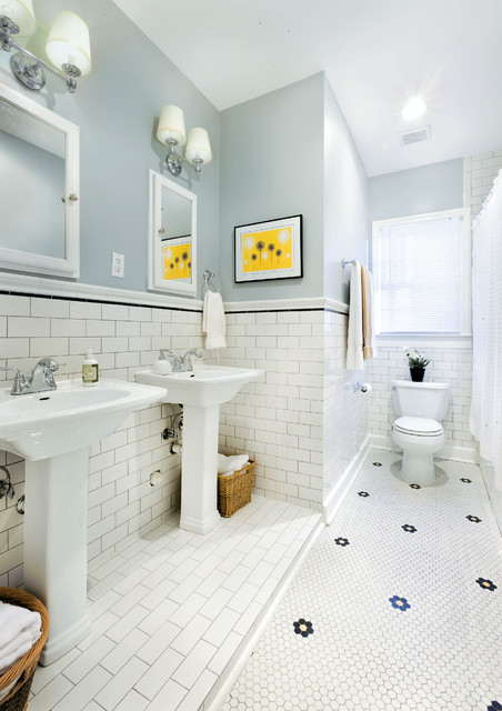 1930s bathroom updated for 21st century