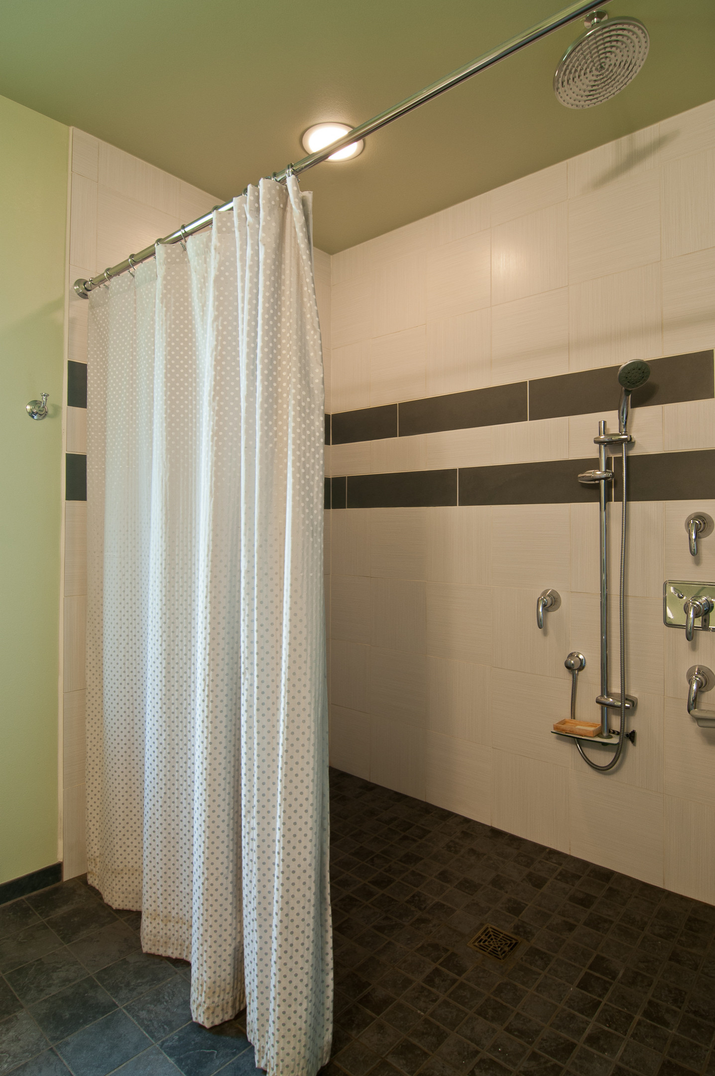 walk in shower curtain rod houzz