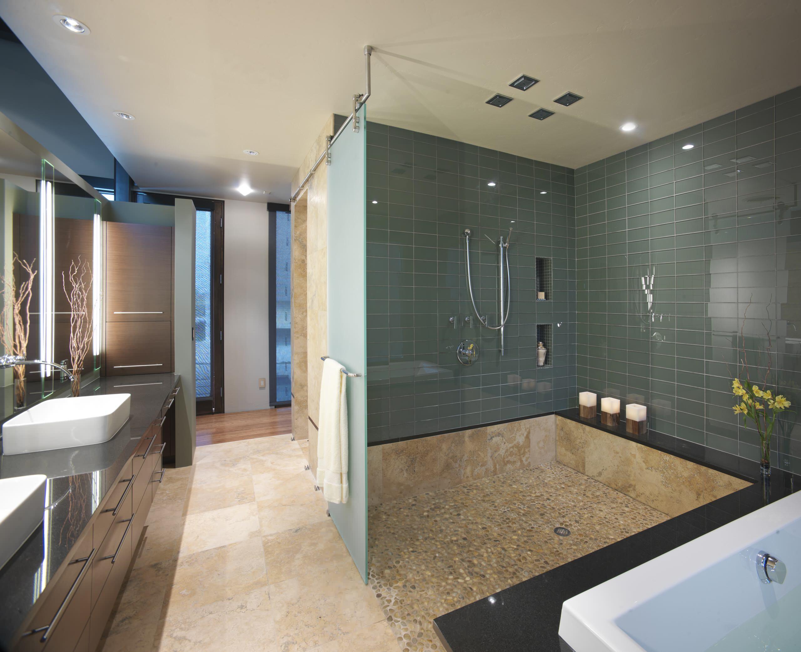 contemporary shower tile ideas photos houzz