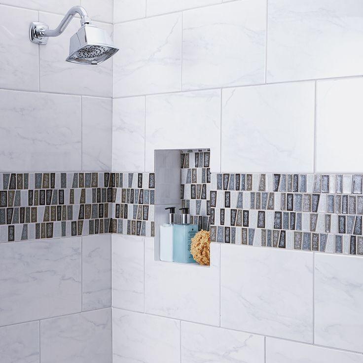 porcelain tile bathroom shower
