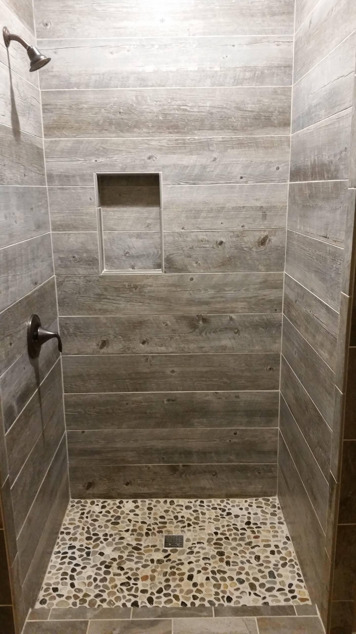 rustic ceramic tile bathroom