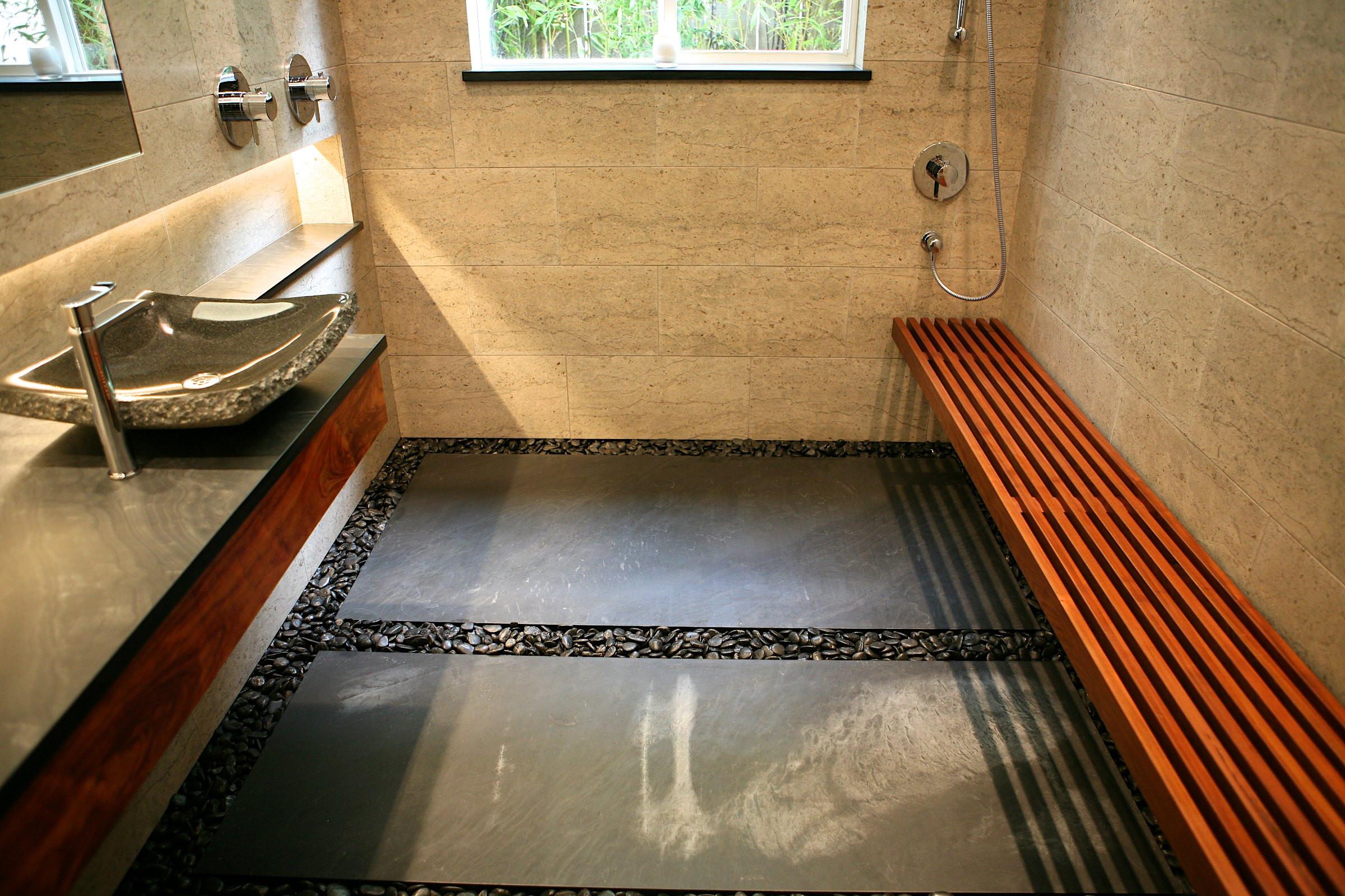 river rock bathroom houzz