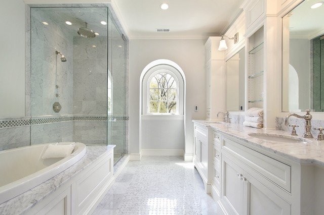 calacatta gold marble bathroom
