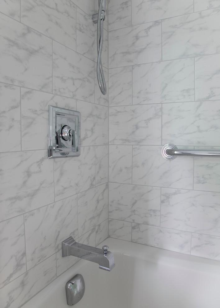 carrara marble shower tile