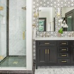 Black And White Marble Floor Bathroom Ideas Photos Houzz