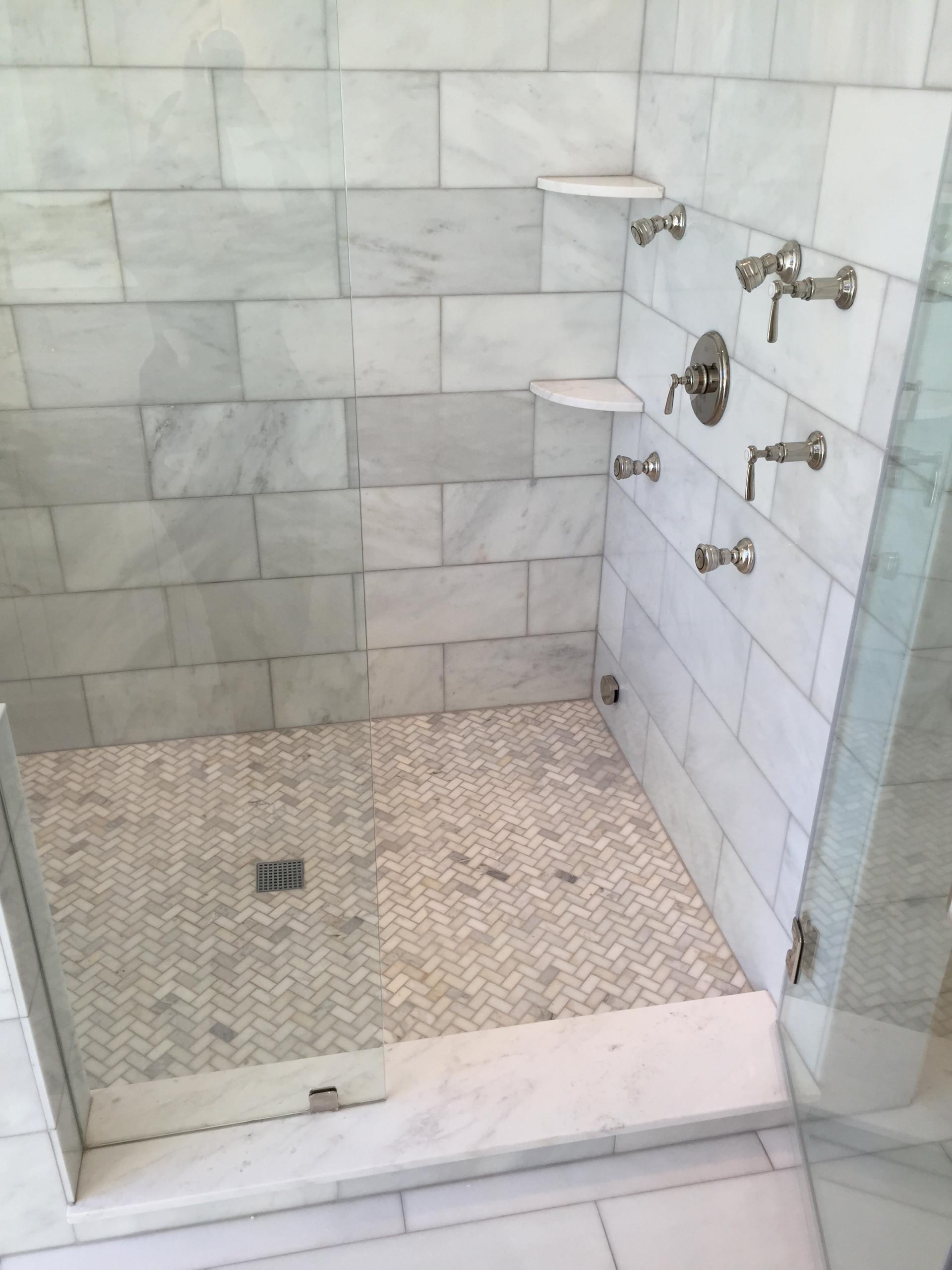 herringbone shower floor houzz