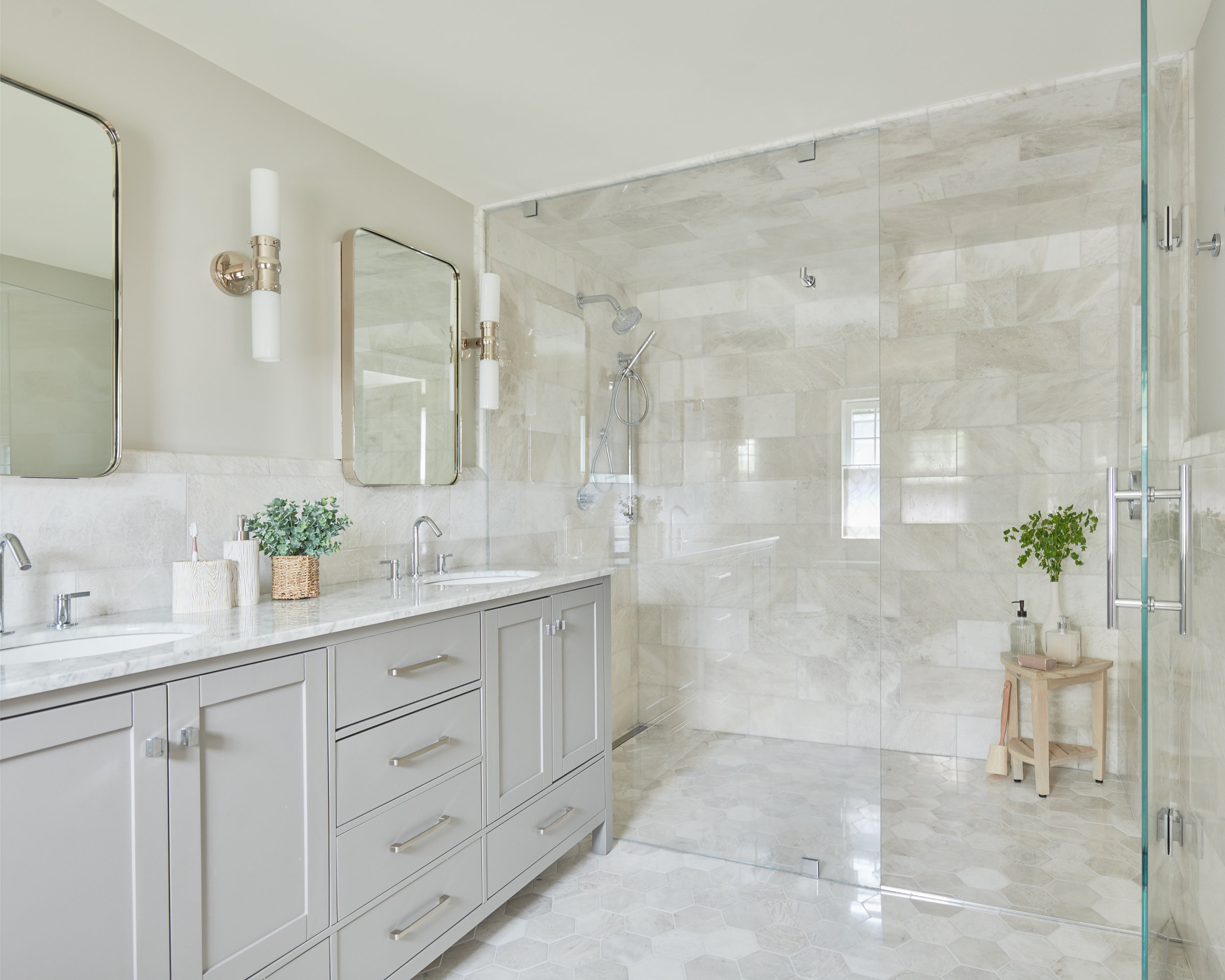 75 beautiful marble tile bathroom