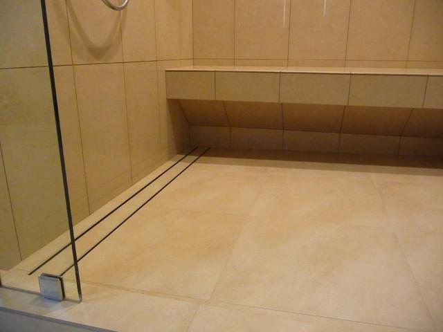 Master Bath Remodel With Aco Linear Drain Contemporary Bathroom Salt Lake City By Tarkus Tile Inc Houzz