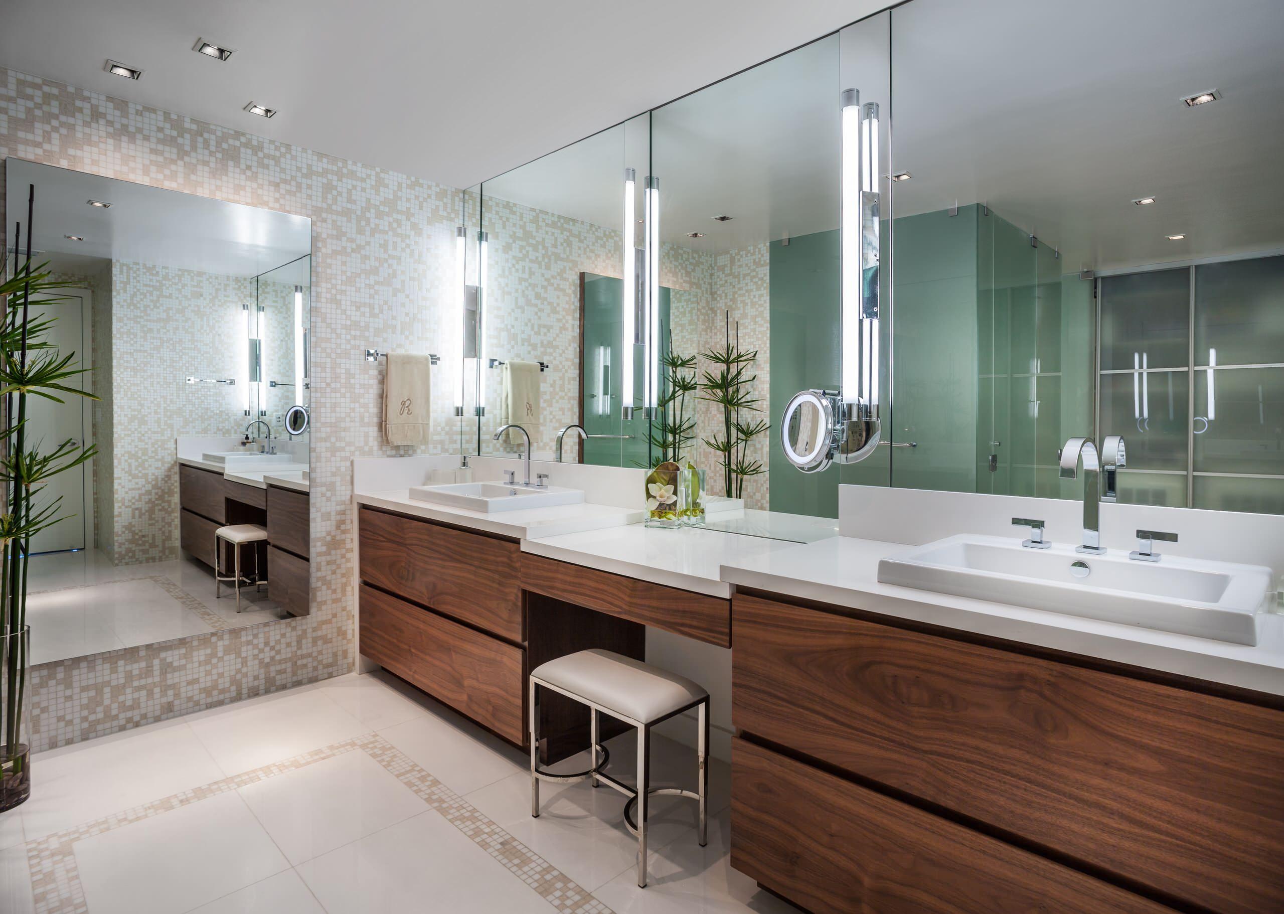 Double Sink Makeup Vanity Houzz