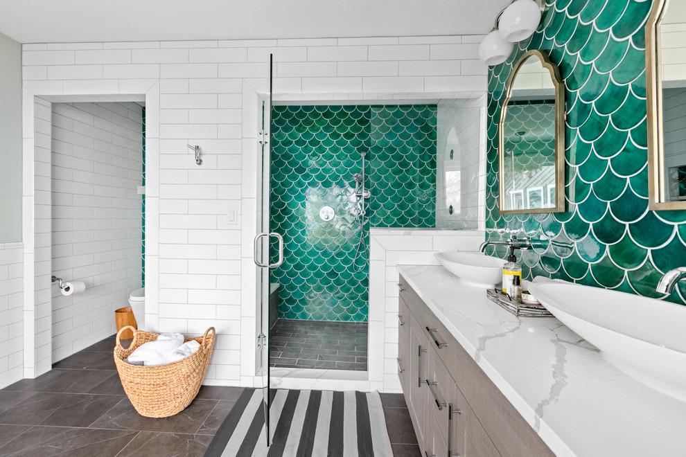 moroccan mermaid bathroom beach style