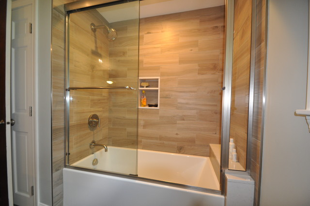 plank tile tub surround project 1484