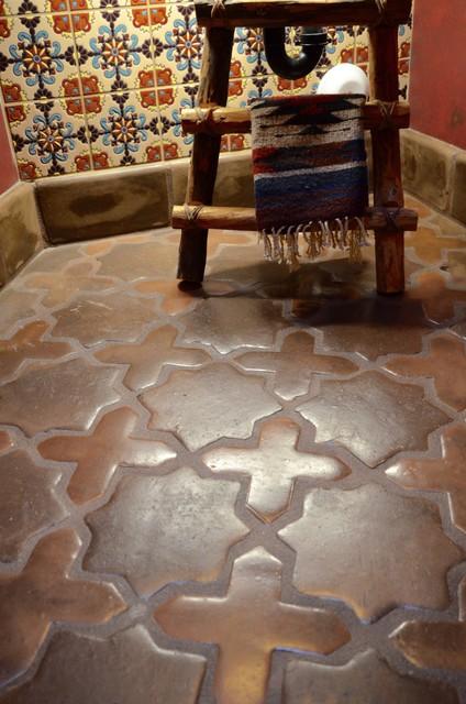saltillo tile flooring bathroom