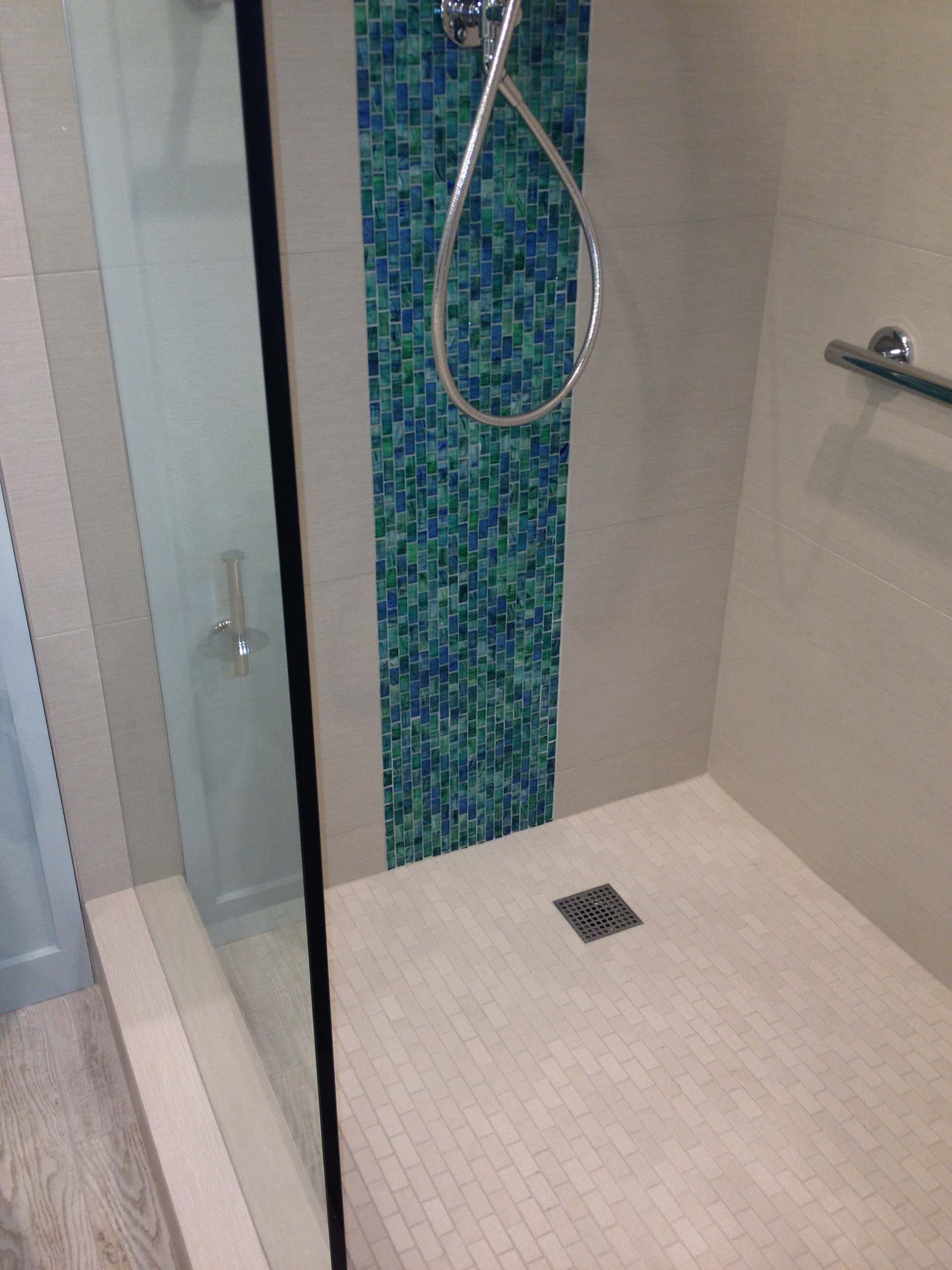 glass tile accent houzz