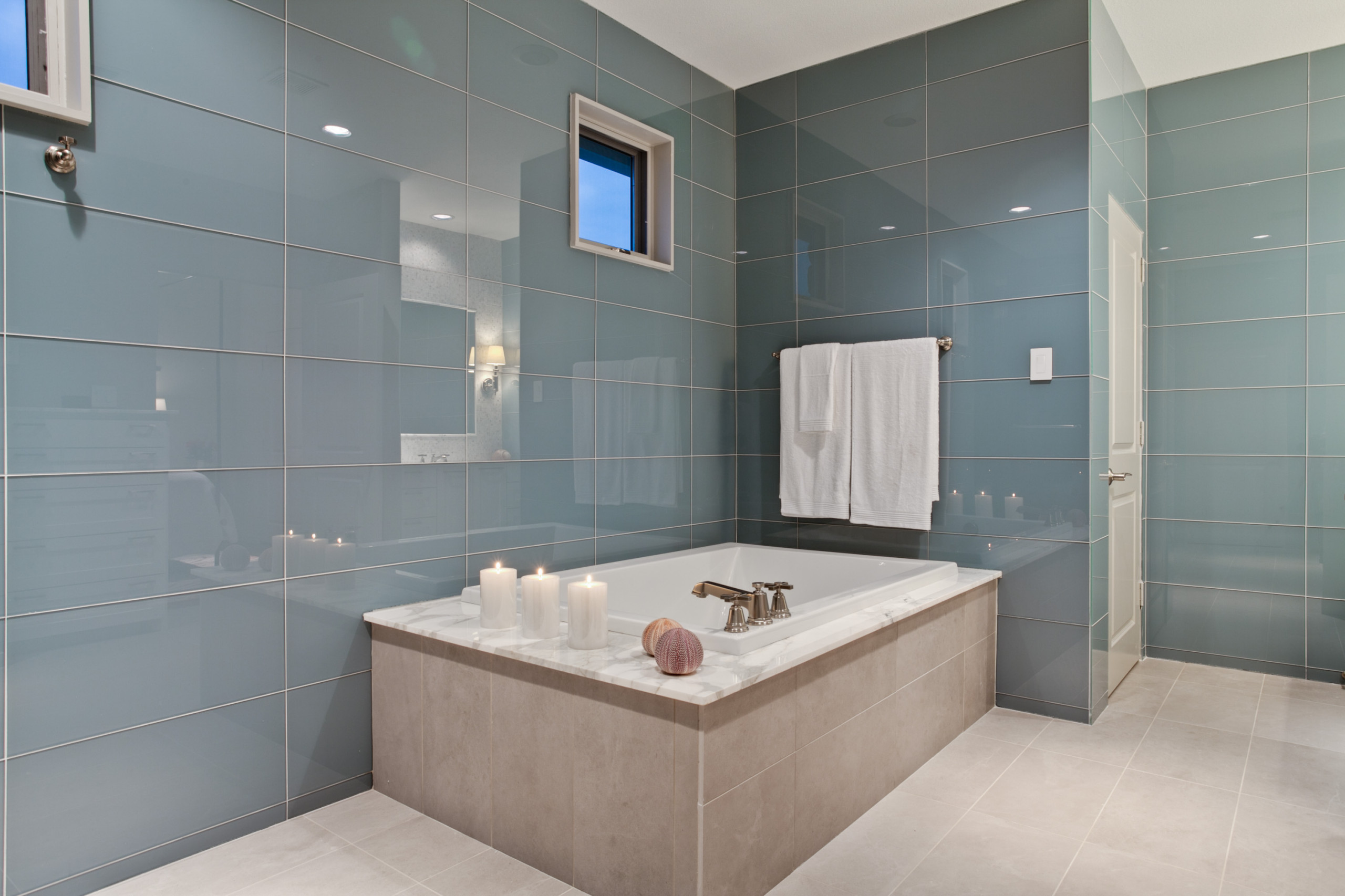large glass tile houzz