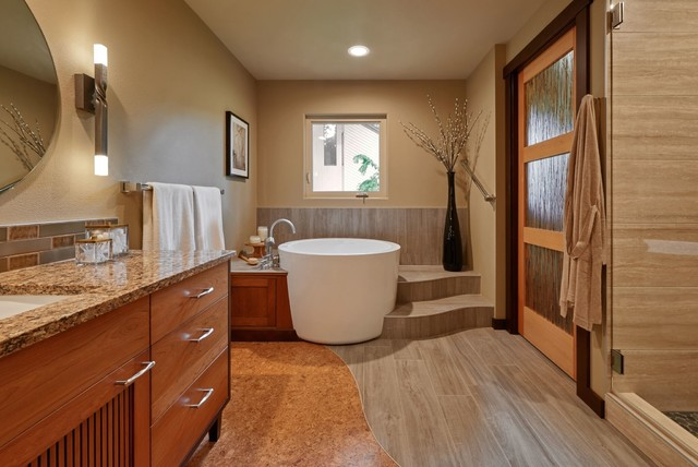 your bathroom floor with a mat or rug