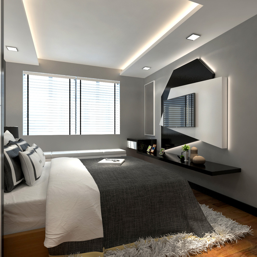 5 Room Punggol Hdb Residential Modern Bedroom Singapore By Woodplus Design