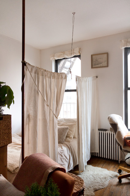 fake a bedroom in a studio apartment