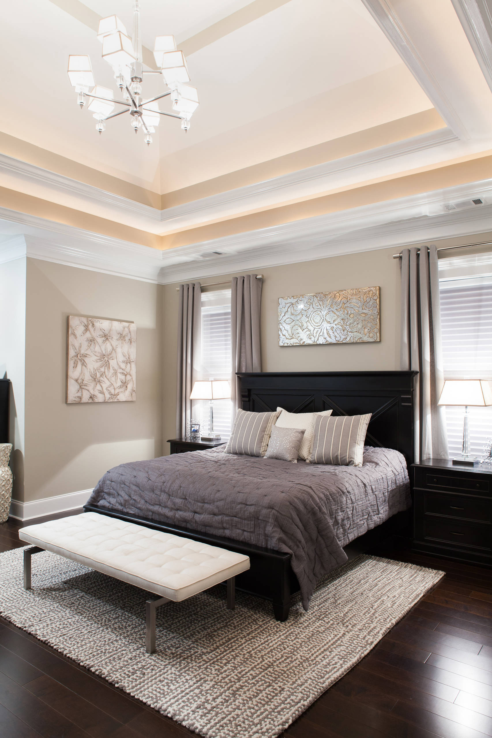 artwork above bed houzz