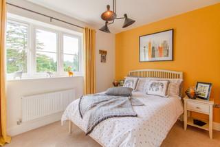 75 Beautiful Orange Bedroom Pictures Ideas January 2021 Houzz Uk