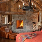 Log Cabin Bedroom Houzz