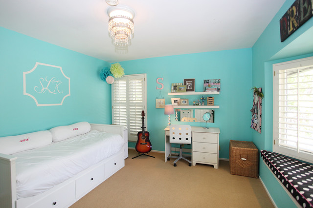 Turquoise Bedroom Eclectic Bedroom Los Angeles By S Wiley Interior Photography