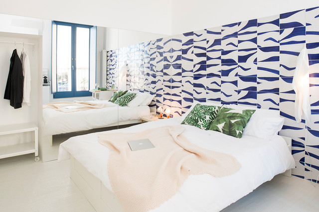 Per la camera da letto, quale colore è meglio scegliere? Nuovi Trend Rivestire Di Mattonelle La Parete Dietro Al Letto