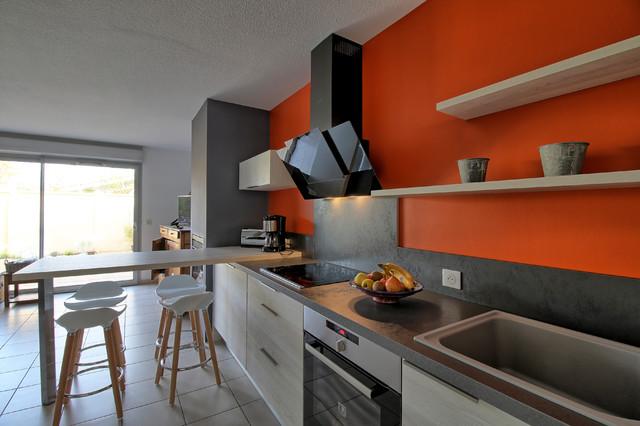 blanc anthracite et orange modern