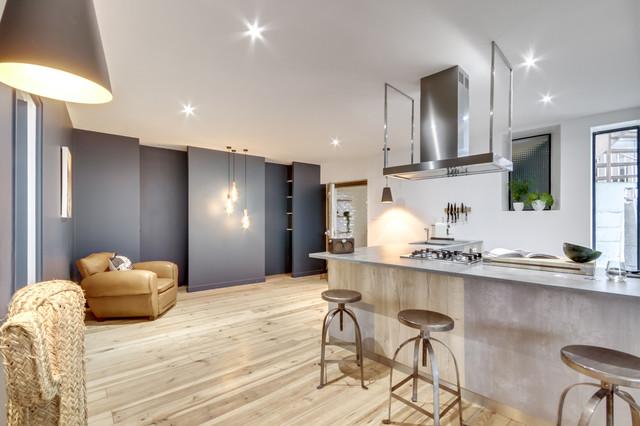 cuisine couloir contemporain