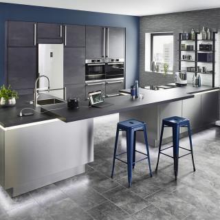 cuisine moderne avec un sol en