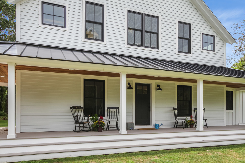 wraparound porch farmhouse deck