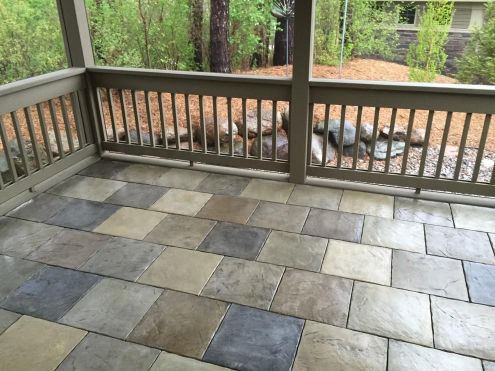 installing dektek tiles over an