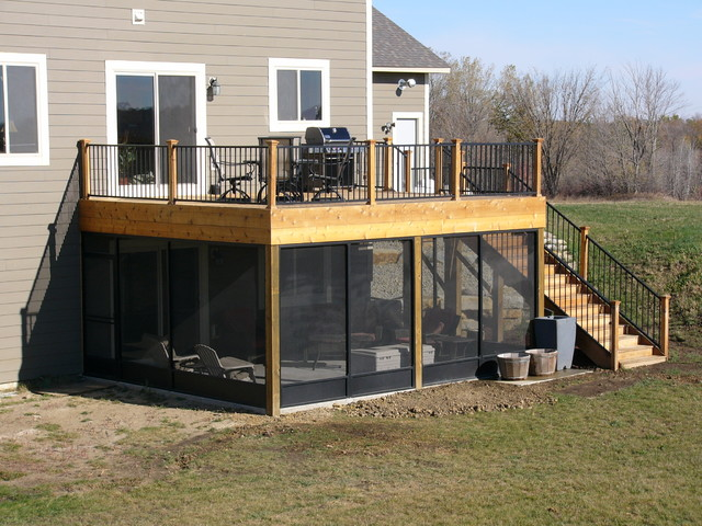 screen porch deck northfield