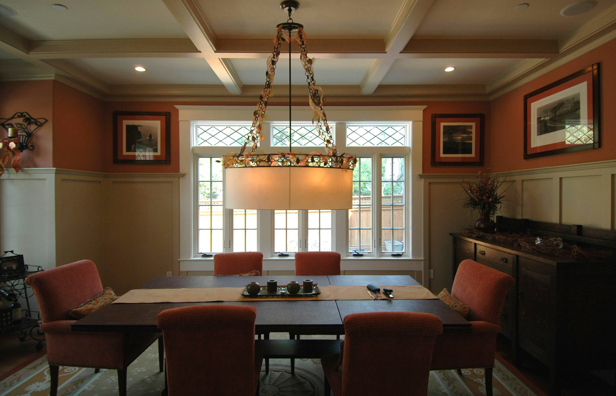 craftsman style in burlingame dining
