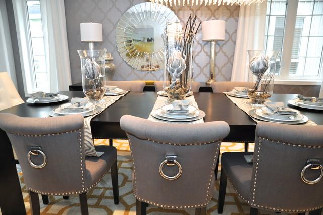 Glam Chic Dining Room Transitional Dining Room Toronto By Royal Interior Design Ltd Houzz Au