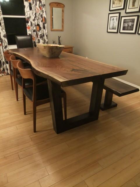 live edge black walnut table wood slab