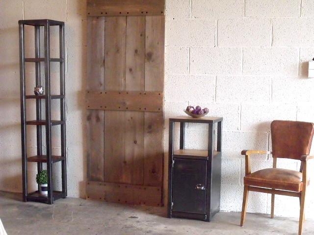 meuble d entree bois metal style