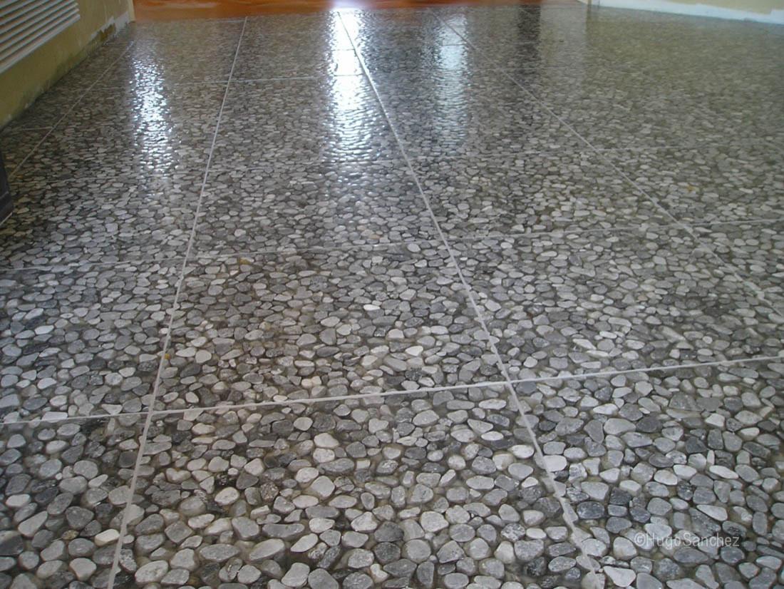 river stone tile houzz