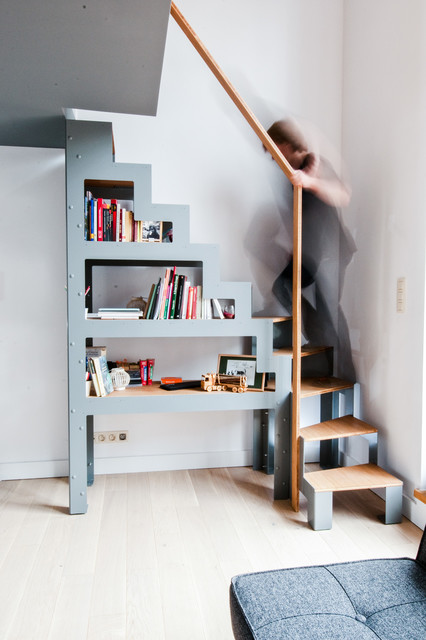 escalier bibliotheque libro et rambarde