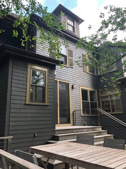 Charcoal Exterior Paint : charcoal, exterior, paint, Charcoal, Paint, Scheme,, Exterior, Project,, Newton,, Midcentury, Boston, ProTEK, Painters