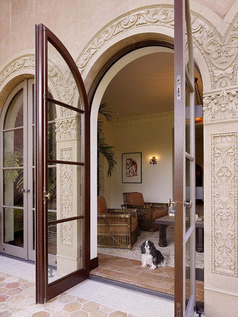 patio doors mediterranean exterior