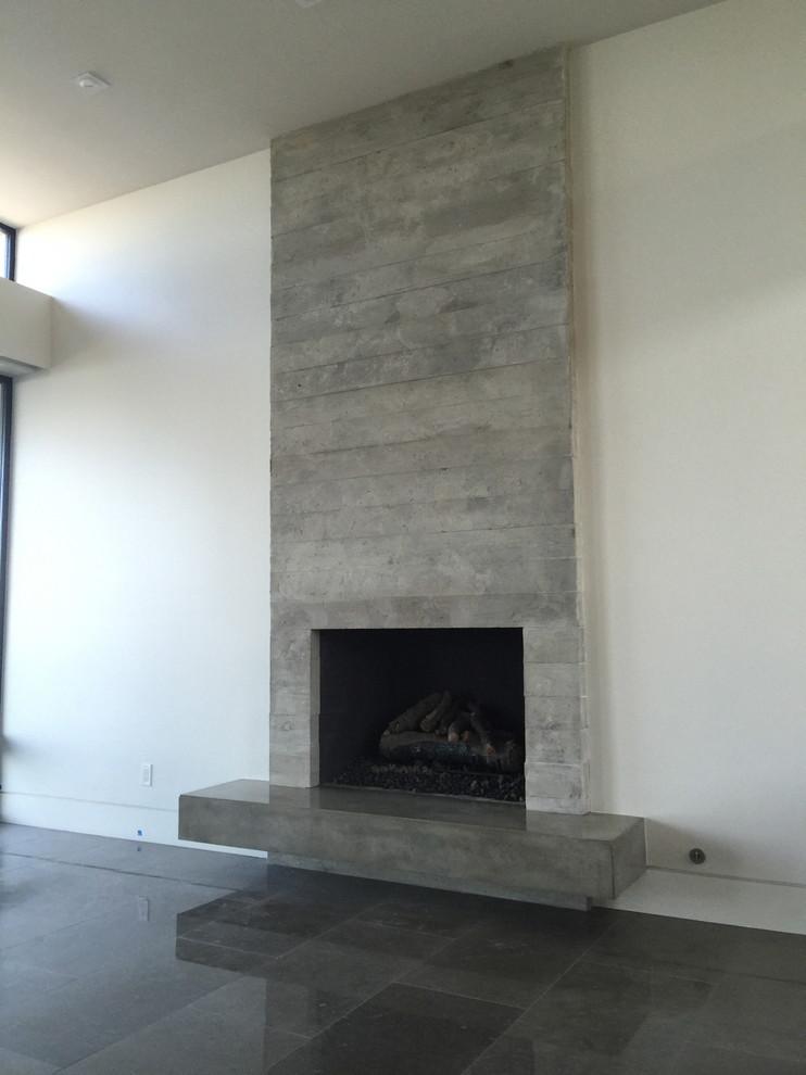 board formed concrete veneer tile