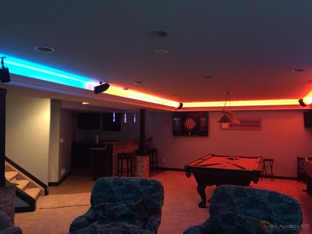 man cave game room led lighting